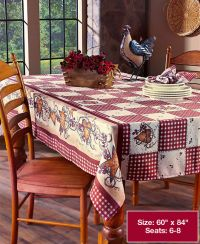 Primitive Country Hearts & Stars Checkered Table Cloth ...