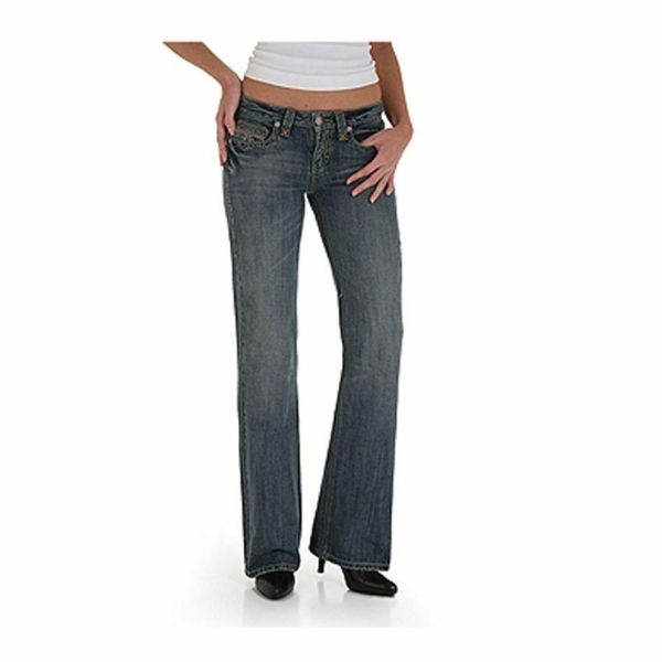 Low Rise Boot Cut Wrangler Jeans for Women