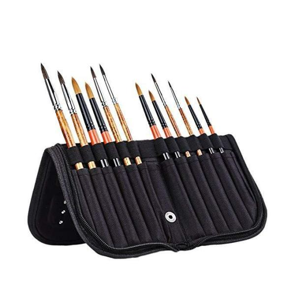 Paint Brushes Case Holder Oil Watercolor Acrylic Gouache Organizing