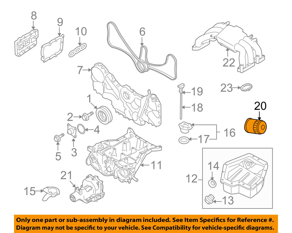 medium resolution of subaru oem 01 16 outback engine oil filter 15208aa031 ebay 2010 subaru tribeca limited h6 36 engine parts diagram