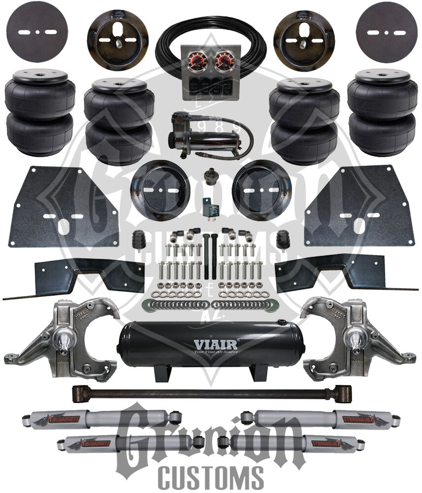 hight resolution of details about chevy c10 65 70 front rear air bag ride suspension kit w drop spindles