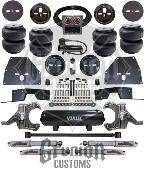 small resolution of details about chevy c10 65 70 front rear air bag ride suspension kit w drop spindles