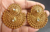 South Indian Antique Gold Plated CZ Kundan Polki Wedding
