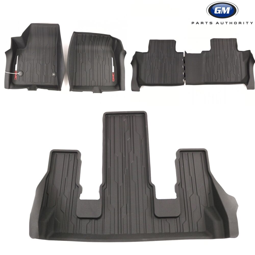 1718 GMC Acadia Floor Liner Package Front 2nd 3rd Row Jet