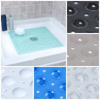 Large Non Slip Shower Mat with Drain Holes: SlipX ...