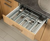 Grey Cutlery Tray Box Insert Cabinet W:30-90cm Kitchen ...