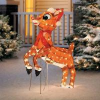 SALE Outdoor Pre Lit Lighted Animated Rudolph Reindeer ...