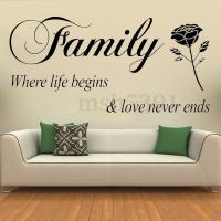 Removable Quote Family Lettering Wall Stickers Vinyl Art ...