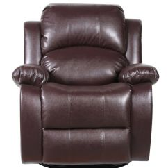 Theater Chairs Costco Individual Garden Chair Covers Bonded Leather Rocker And Swivel Recliner Living Room - Brown | Ebay