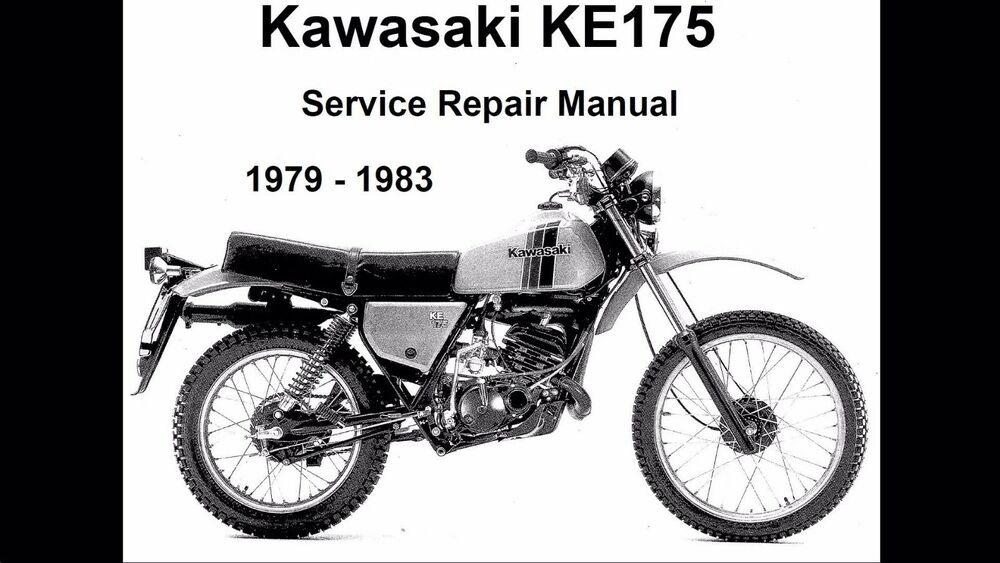 Kawasaki service manual 1979, 1980, 1981, 1982 & 1983