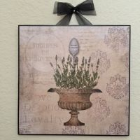 French Lavender Herb Plaque Wall Decor Country Cottage