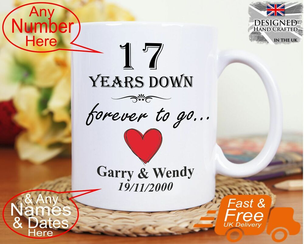 17th wedding anniversary gift 17 years marriage Any dates names any anniversary  eBay