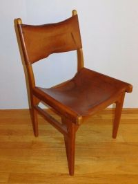 Vtg 1950's Borg Morgensen Style Leather Chair Finland ...