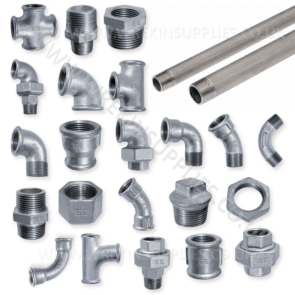 """GALVANISED MALLEABLE IRON PIPE FITTINGS BSP 1/8"""""""