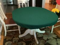 poker felt table covers for Round Table w/ Leaf Insert ...