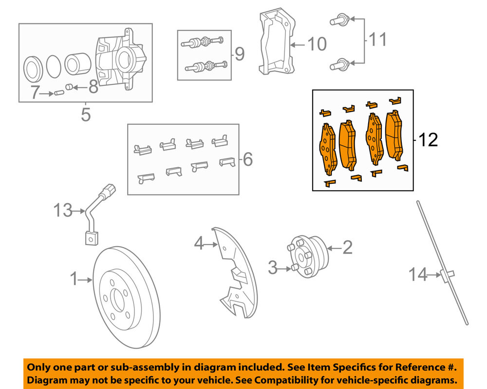 hight resolution of details about vw volkswagen oem 09 11 routan brake front pads 7b0698151f