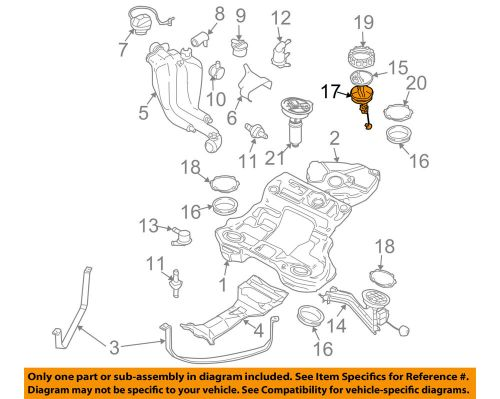 small resolution of details about vw volkswagen oem passat fuel system gas fuel tank sending unit seal 4b0919133