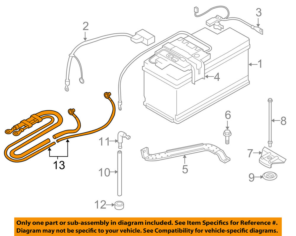 medium resolution of 2007 bmw 328i battery wiring wiring diagrambmw oem 07 13 328i battery cable 61129125036 ebaydetails about