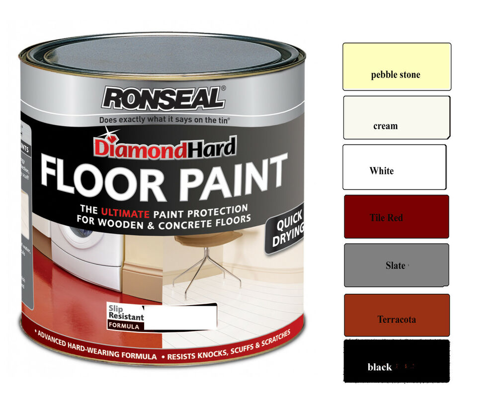 Ronseal Diamond Hard Floor Paint 750ml for Wood and