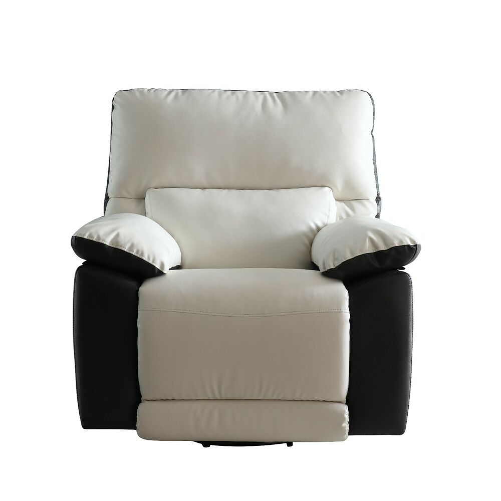 Modern Two Tone Bonded Leather Oversize Recliner Chair  eBay