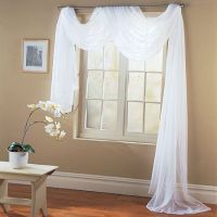 Valance Sheer Curtain Scarf Panel Swag Voile Drape Window ...