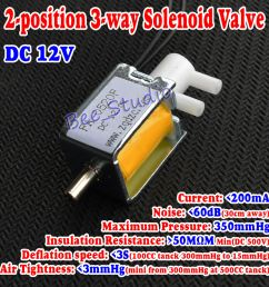 details about dc 12v 2 position 3 way micro mini electric solenoid valve for gas air pump new [ 1000 x 1000 Pixel ]