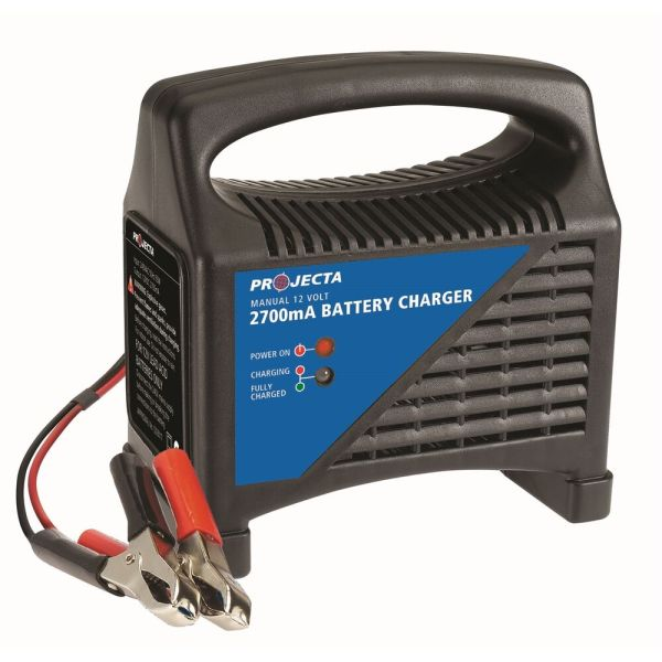 Projecta Battery Charger 12v 2700ma Thermal Overload Protection Aust Brand