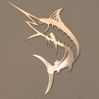 Marlin Metal Wall Art Ocean Nautical Marine Sea Life Beach ...
