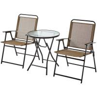 SET OF 2 Outdoor Folding Sling Chair Patio Furniture Porch ...