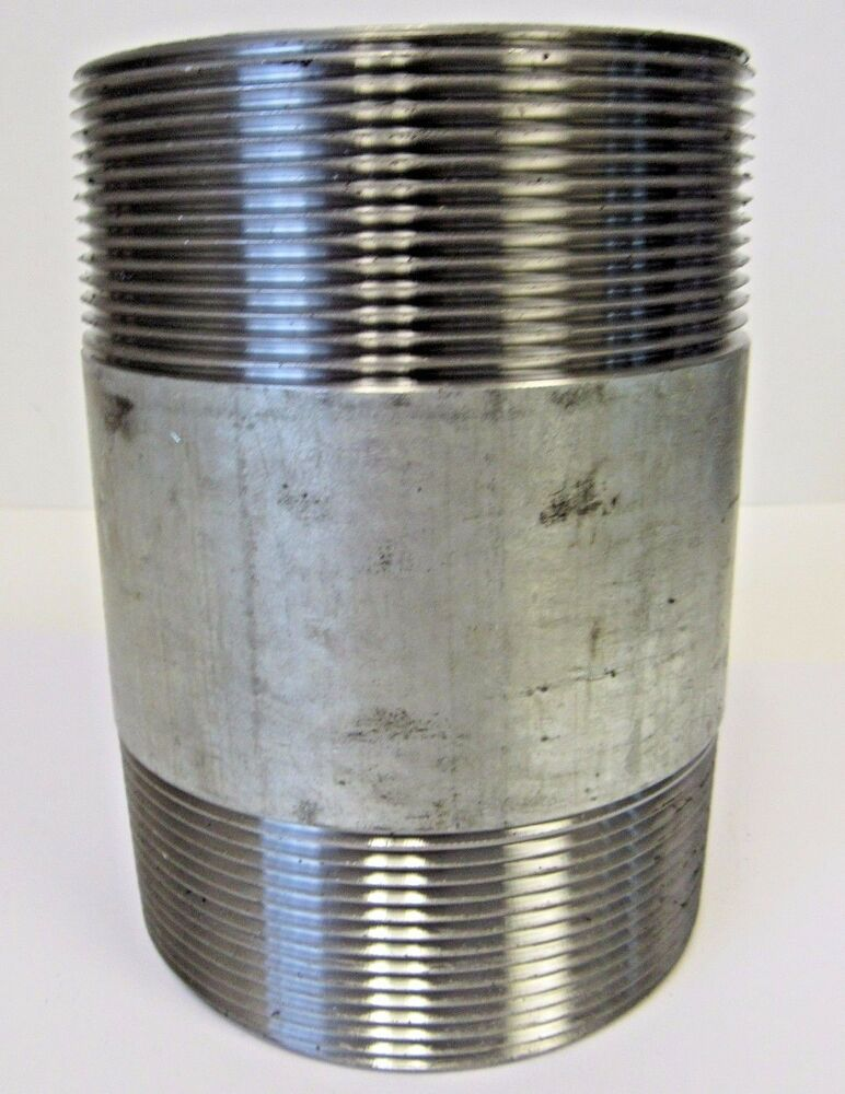 "NEW 4"" X 6 INCH MNPT PIPE NIPPLE GALVANIZED STEEL NIB"