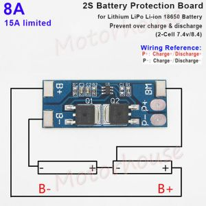 2S 8A 74V 84V BMS Protection PCB Board for 18650 Lithium Liion LiPo Battery | eBay