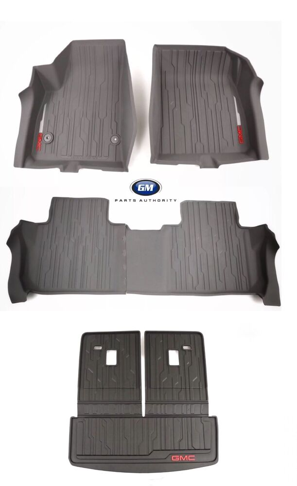 1718 GMC Acadia Floor Liner Package w Cargo Mat Dark Ash