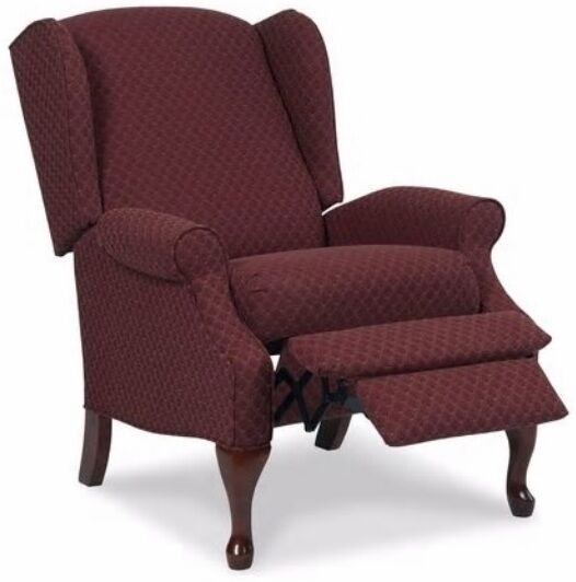accent chair recliner tall upholstered dining chairs wingback red burgundy armchair recliners wing arm | ebay
