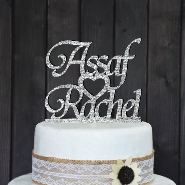 Custom Names Cake Topper Personalized Wedding