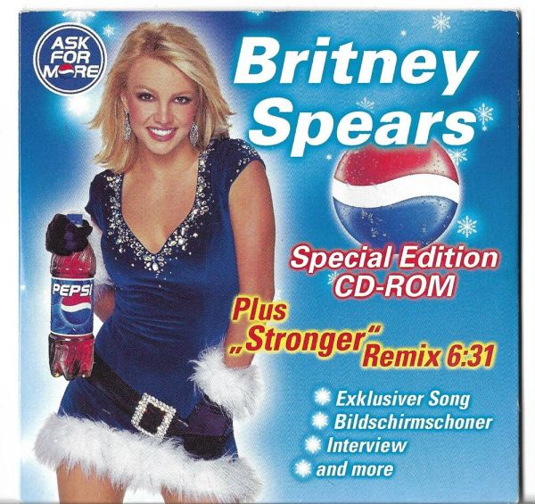 Rare German Promo Cd Britney Spears Pepsi - Stronger Remix