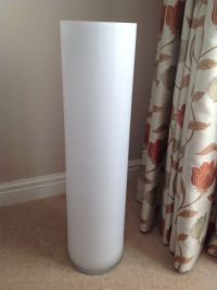 Very large white opaque floor standing glass vase | eBay