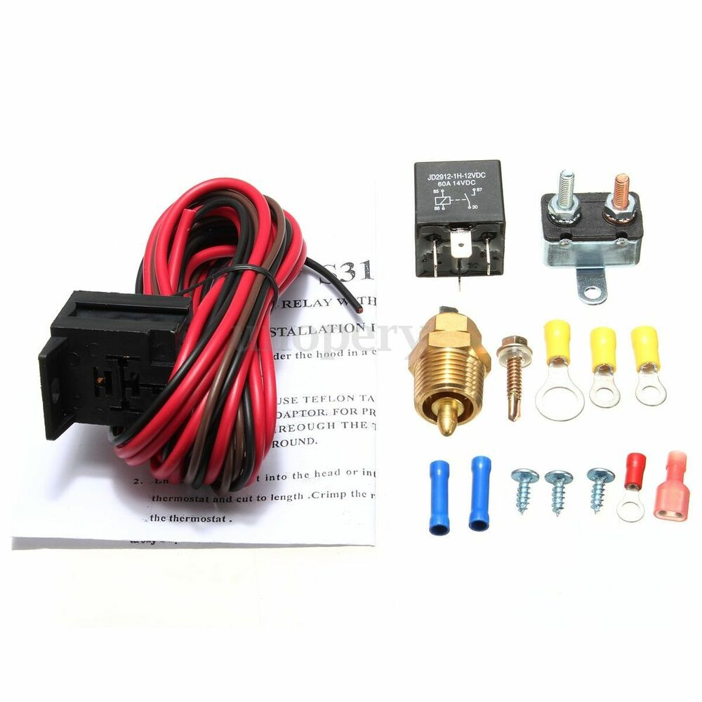 Electric Radiator Cooling Fan 185 Degree Thermostat Fan Wiring Relay