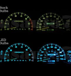 details about new dash cluster gauge aqua blue led light kit fits 95 98 toyota 4runner 3rd gen [ 1000 x 1000 Pixel ]