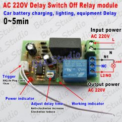 220 Volt Wiring Diagram 2007 Ford Fusion A C Ac 220v 230v 240v Trigger Delay Timing Timer Relay Switch Turn Off 0~5min | Ebay