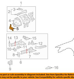 details about lexus toyota oem 06 15 is250 fender front panel support right 5325753020 [ 1000 x 798 Pixel ]