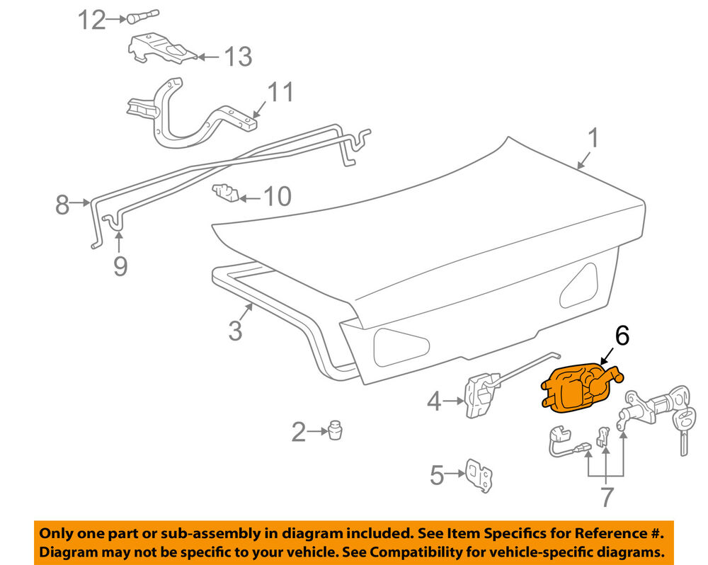 hight resolution of details about lexus toyota oem 2001 es300 trunk lid release handle 6464033020