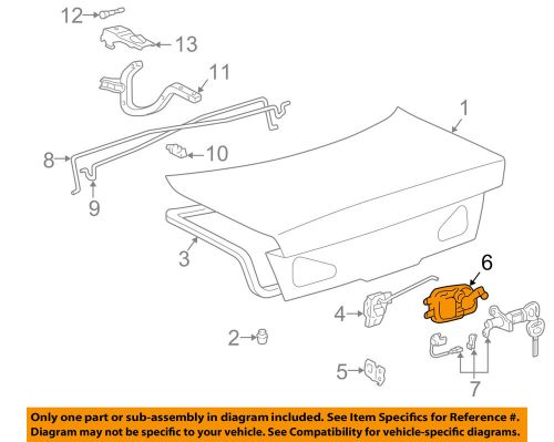 small resolution of details about lexus toyota oem 2001 es300 trunk lid release handle 6464033020