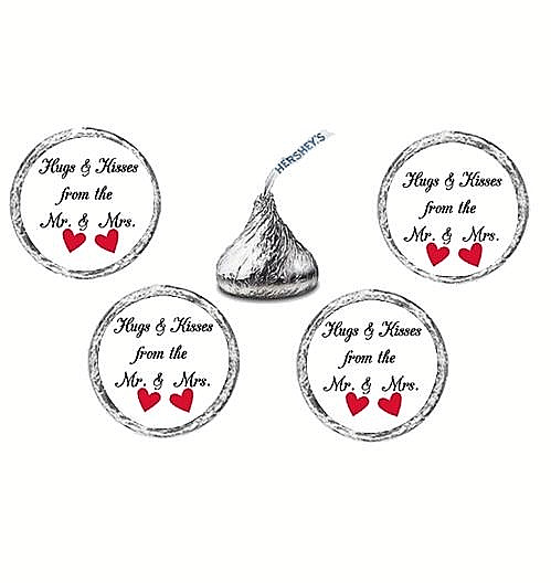 216 Hugs and Kisses From the Mr & Mrs Hearts Labels