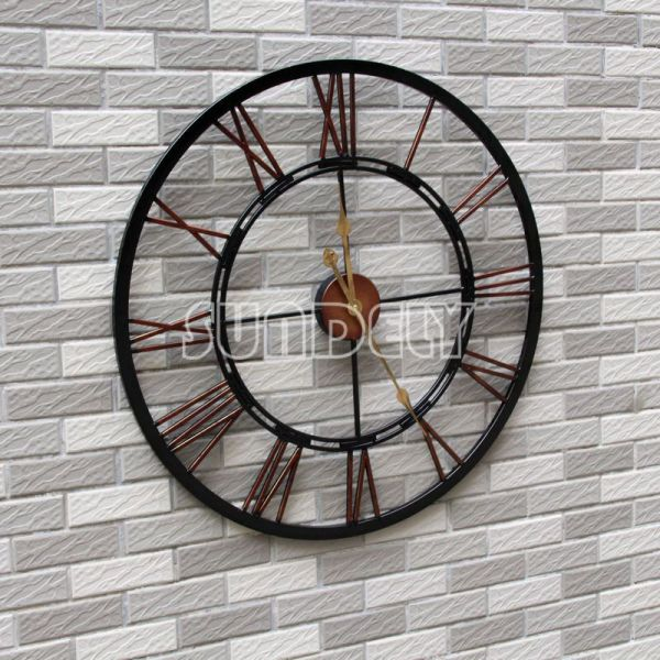 Large Outdoor Wall Clock Roman Numeral