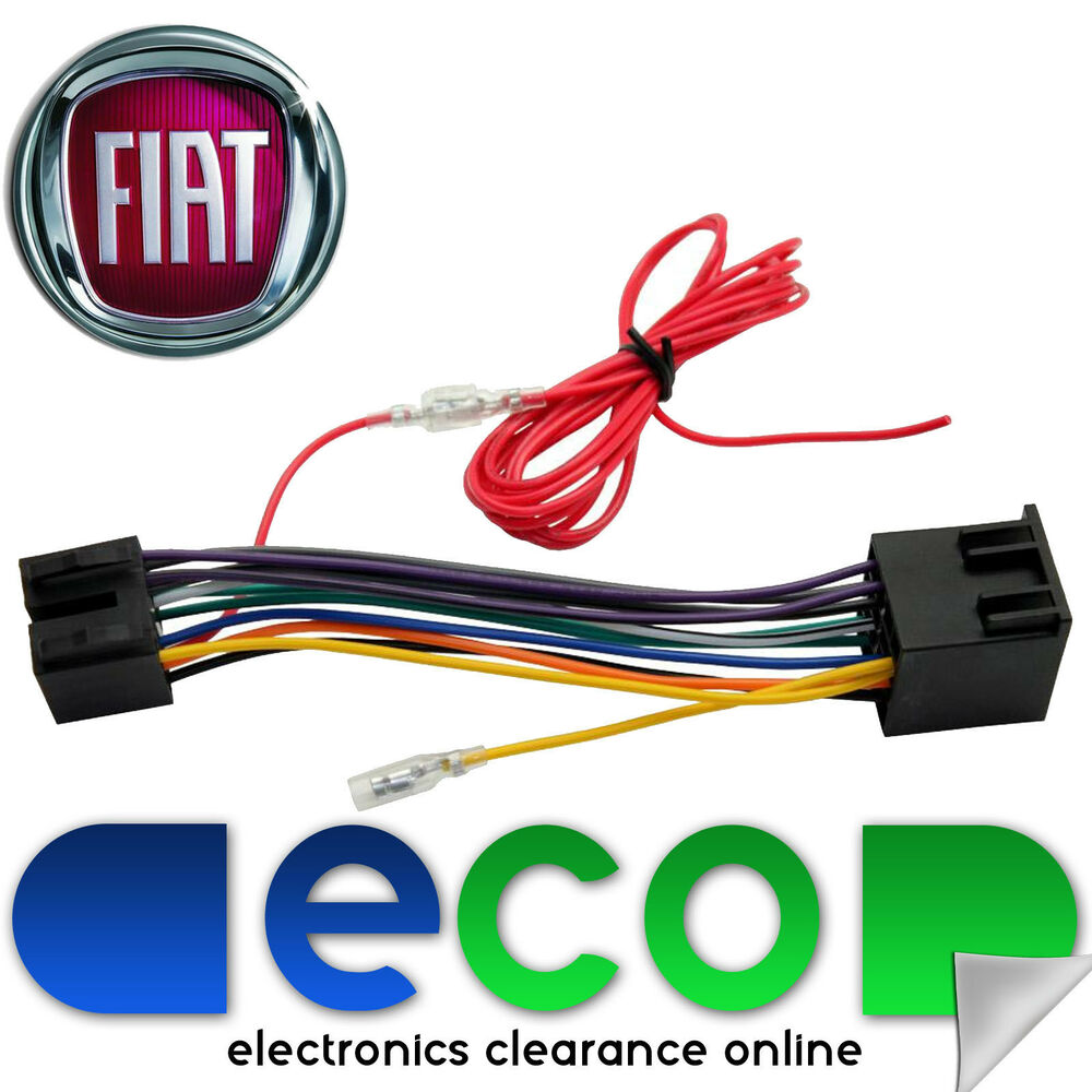 hight resolution of fiat grande punto car stereo radio iso wiring harness adaptor lead t1 pe09 ebay
