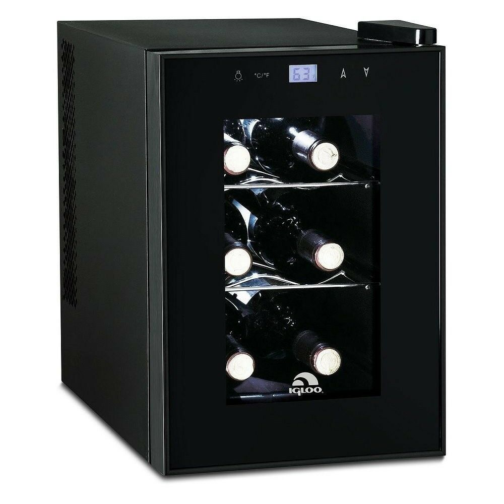 kitchen refrigerator wall clock igloo 6-bottle countertop wine cooler- digital temperature ...