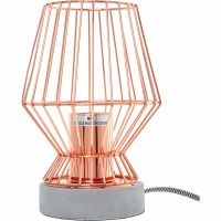 Modern Copper Rose Gold Concrete Cement Cage Table Desk ...