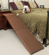 Dog Ramp for Bed Carpeted Surface Grip 25 Inch Easy Climb ...
