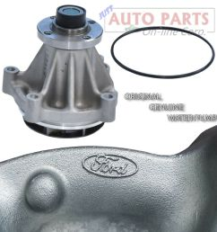 details about new genuine water pump ford f150 250 350 e series excursion 4 6l 5 4l v8 97 16 [ 1000 x 995 Pixel ]