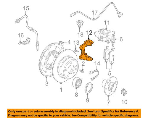 small resolution of details about bmw oem 04 10 x3 disc brake caliper bracket 34216765885